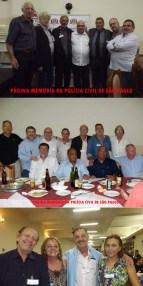 """1º Encontro da Velha Guarda da Polícia Civil do Estado de São Paulo, em 25/10/13.                                         Foto 1, à partir da esquerda, Investigadores Piau, Antonio Fernandes Martins """"Rambo"""", Fininho 2, Jonas; Delegados Paulo R Queiroz Motta e Gilberto De Castro Ferreira e escrivão Ronaldo Theodoro.                                                  Foto 2: Edson Cacapa Martins, Investigadores Cyrano Filho, Jonas Filho; Desembargador do TJ Dr Miguel Marques,; Investigadores Abílio """"Português"""", Luis Buttes, Georges Bruce Vieira da Silva, Valter Corrêa, Theo e Mandruca Filho.           Foto 3: Delegado George H Millard; Investigadoras Maria Guedesdamas e Lilian Berzin e ao centro o reportes Percival de Sousa. https://www.facebook.com/MemoriaDaPoliciaCivilDoEstadoDeSaoPaulo/photos/a.320169741438937.1073741826.282332015222710/1051291704993400/?type=3&theater"""