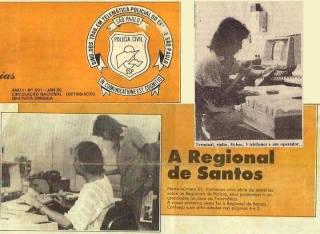 Jornal do Sindicato dos Trabalhaores em Telemática Policial do Estado de São Paulo, sobre a Regional de Santos, edição de janeiro de 1.990. na foto, o Agente de Telecomunicações Julio Lens Fininho. https://www.facebook.com/MemoriaDaPoliciaCivilDoEstadoDeSaoPaulo/photos/a.334989943290250.1073741838.282332015222710/354587644663813/?type=3&theater
