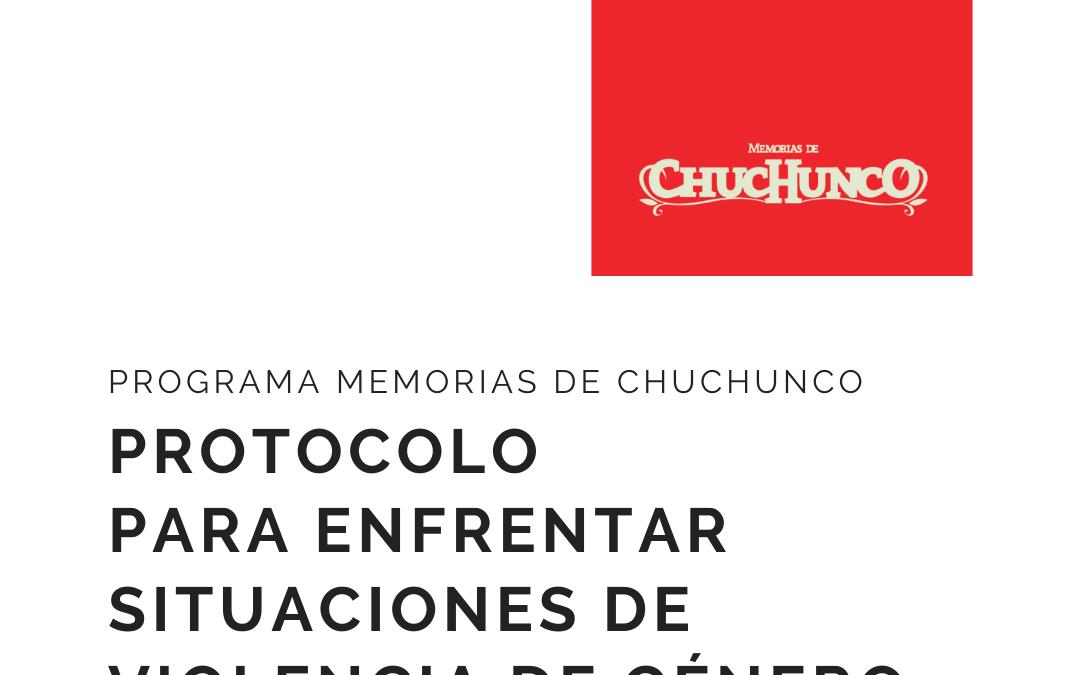 Memorias de Chuchunco implementa protocolo para enfrentar situaciones de violencia de género
