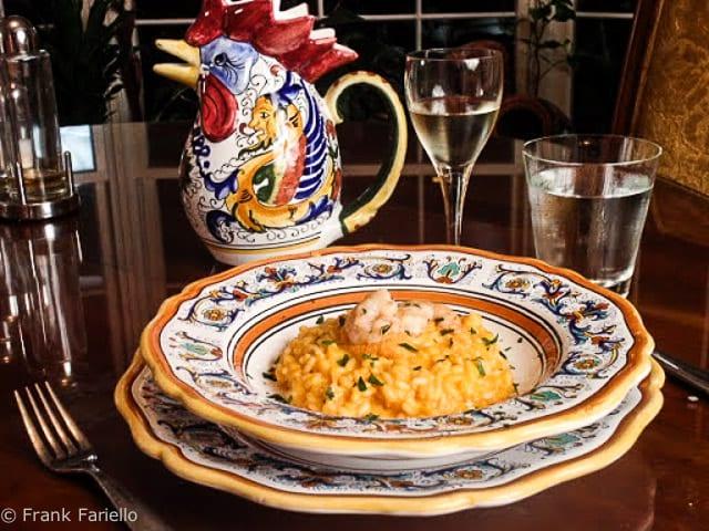 Risotto alla crema di scampi (Risotto with Puréed Shrimp)
