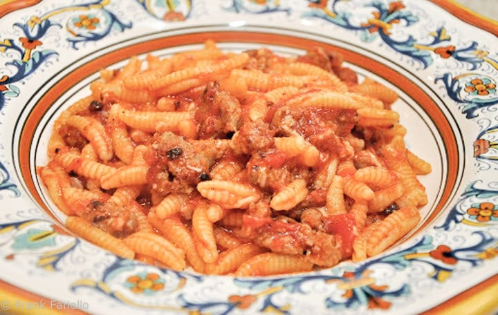 Malloreddus alla campidanese (Sardinian Gnocchi with Sausage Ragu)