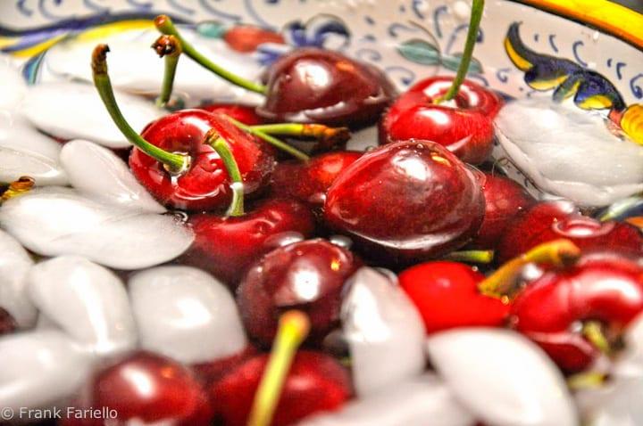 Cherries on ice