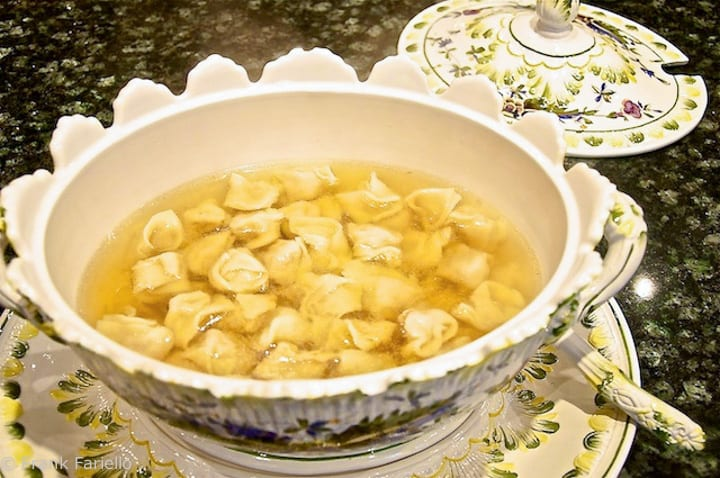 Homemade Tortellini in brodo