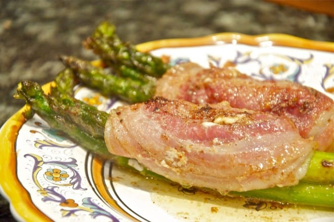 Asparagus and pancetta rolss