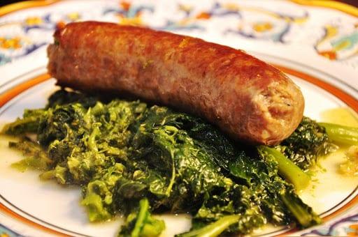 Salsicce alla romana coi broccoletti