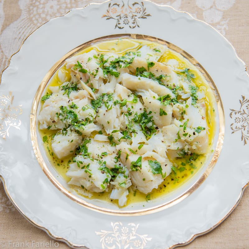 Baccalà lesso (Boiled Salt Cod)