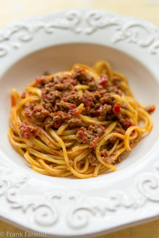 Lamb and Red Pepper Ragù