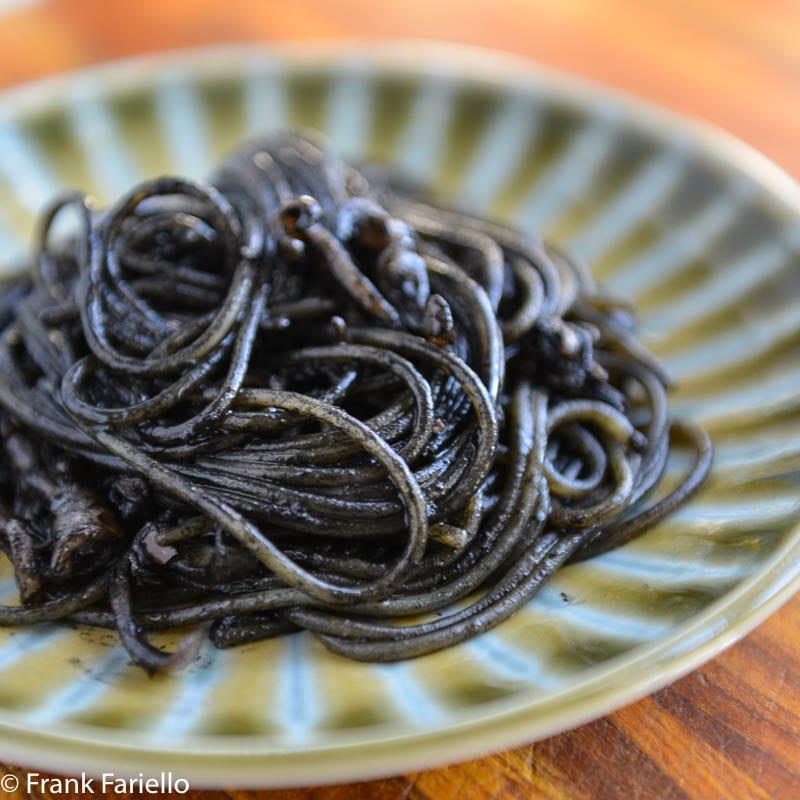 Spaghetti al nero di seppie (Spaghetti with Squid Ink)