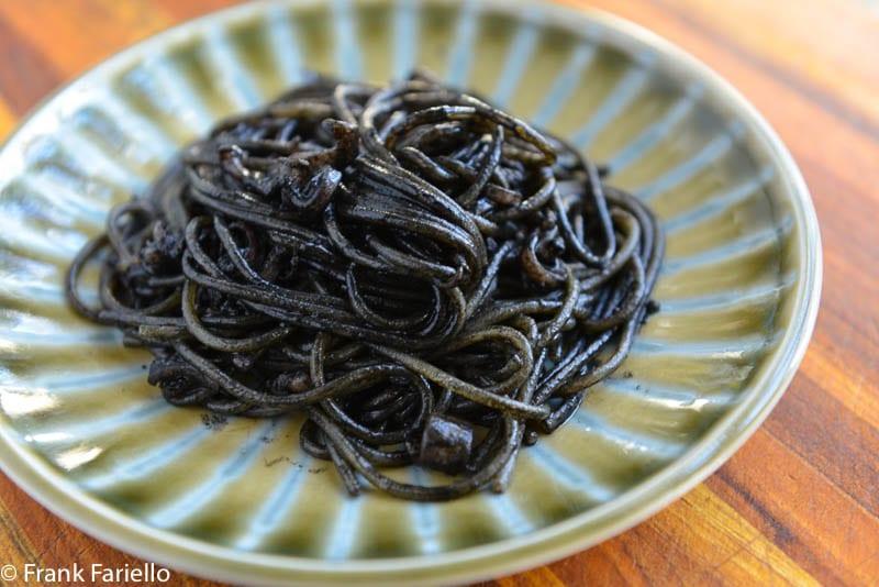 Spaghetti al nero di seppia (Spaghetti with Squid Ink)