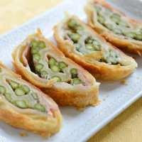 Strudel salato con asparagi e prosciutto