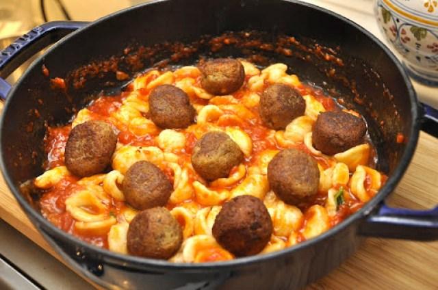 Eggplant Meatballs with Orecchiette Pasta