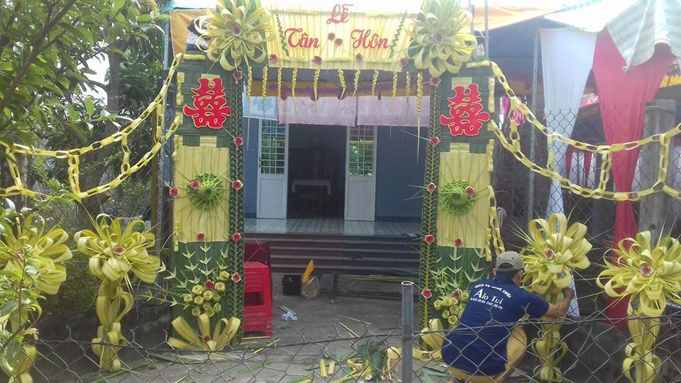 Đẹp mê hồn những cổng nhà bằng lá dừa độc đáo ở miền Tây