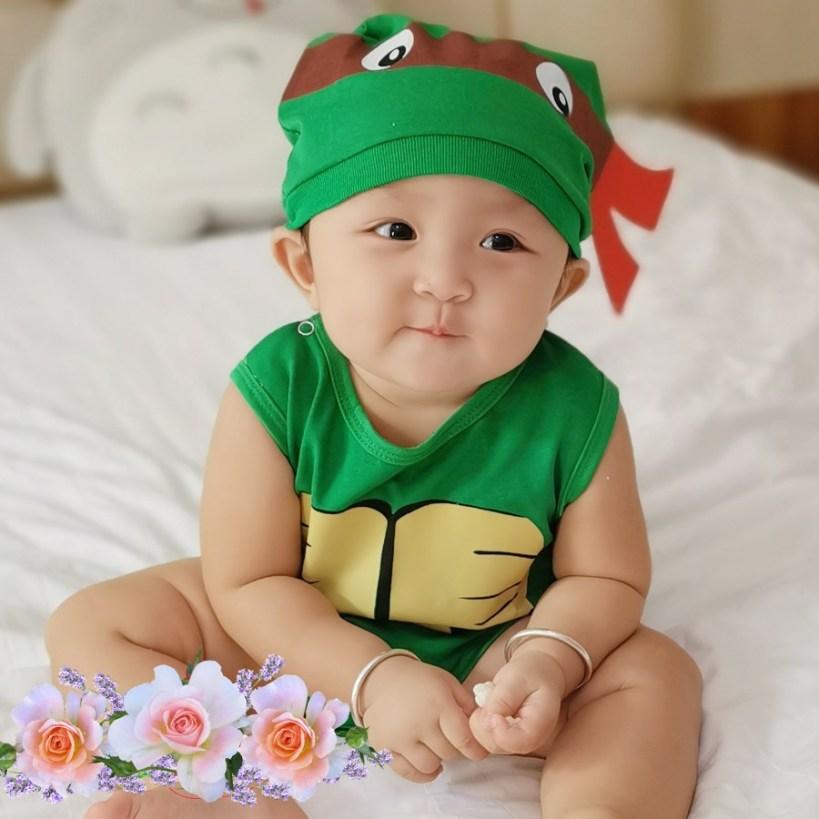 Bộ quần áo trẻ em ninja rùa