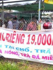 Khó tin nhưng có thật ăn Sầu Riêng tẹt ga chỉ với giá 19.000 đồng/kg