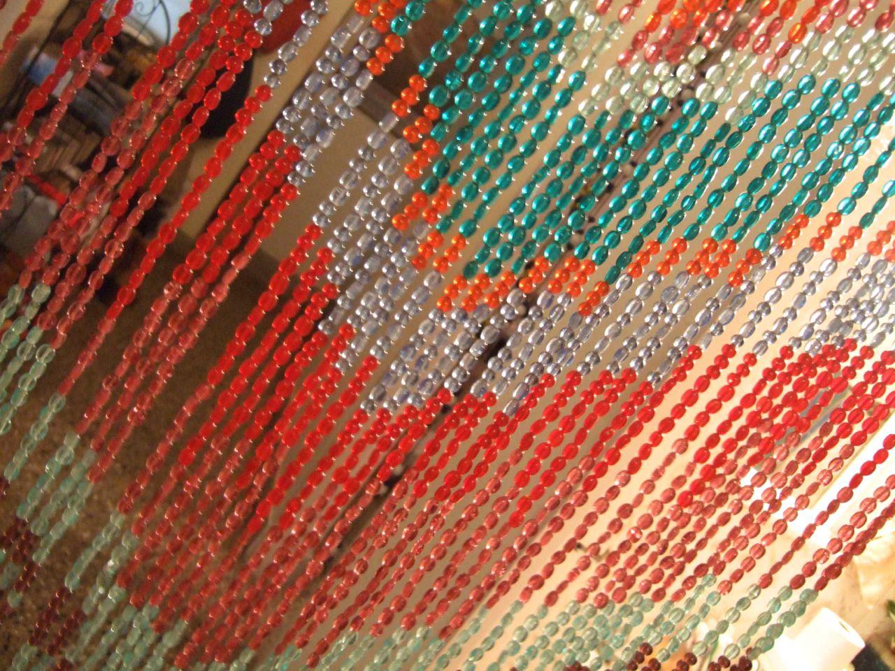 Handmade Antique Finish Beaded Curtain Aztek Bead Curtain
