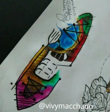 Desenho-para-tatuar-caiaque-tatuagem-estilodevida-vivymacchado