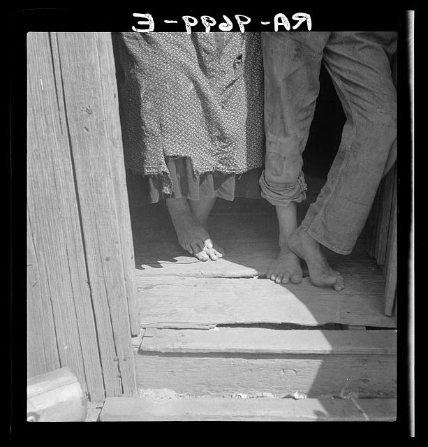 People living in miserable poverty. Elm Grove, Oklahoma County, Oklahoma.  1936 August.  Dorothea Lange, photographer.