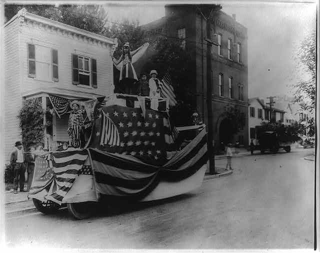 Parade float, showing children, Washington, D.C., July 4, 1918? National Photo Company Collection (Library of Congress).