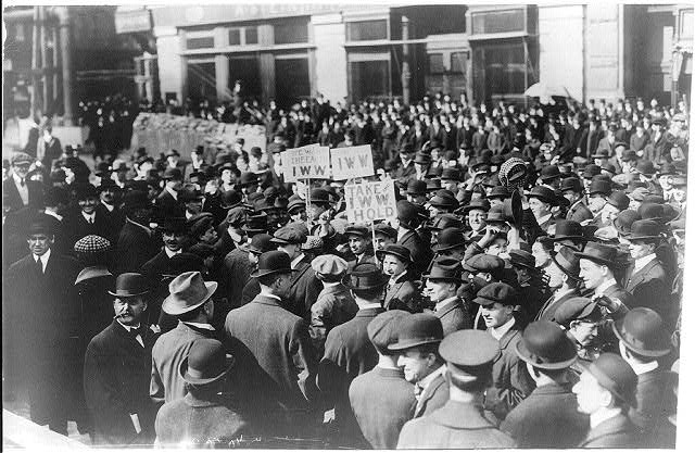 Industrial Workers of the World demonstration.  New York City.  April 11, 1914.