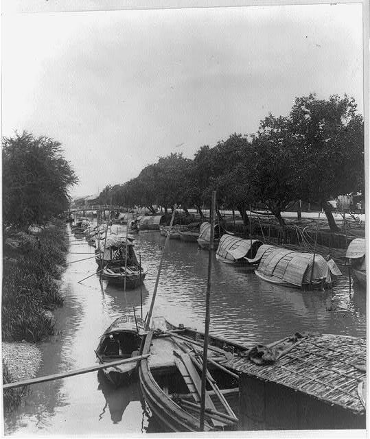 Canal boats - Bangkok, 1928.