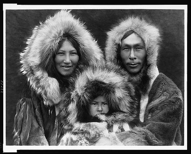 A family group--Noatak by Edward S. Curtis