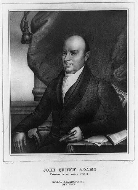 John Quincy Adams, Sixth president of the United States (1825 - 1829)