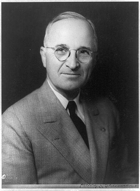 Harry S. Truman, c1945. (Library of Congress)