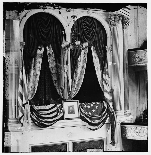 President Lincolns box at Fords Theater, 1865