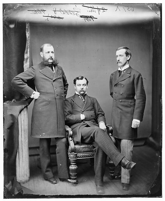 E.L. Stanton, Robert Lincoln, Mr Wells (?)