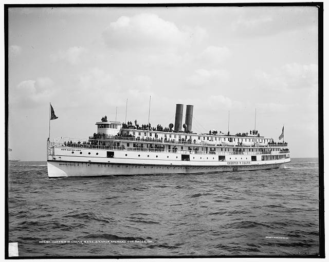 Chester W. Chapin, New York Yacht Club steamer, Americas Cup races (1901)