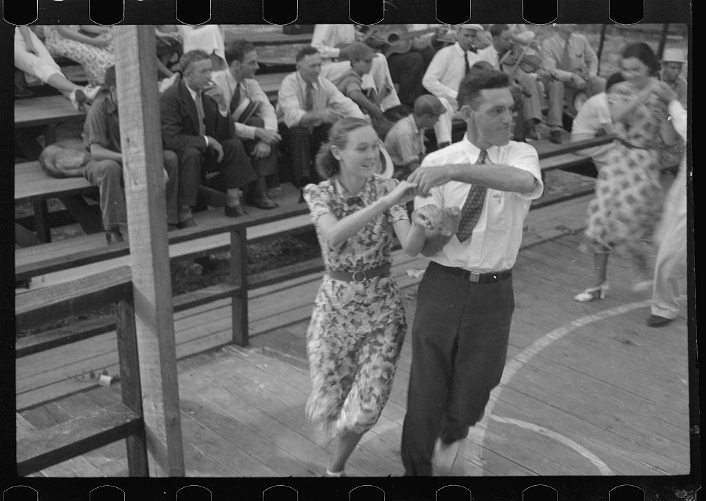 Couple dancing. Square dance, Skyline Farms, Alabama.