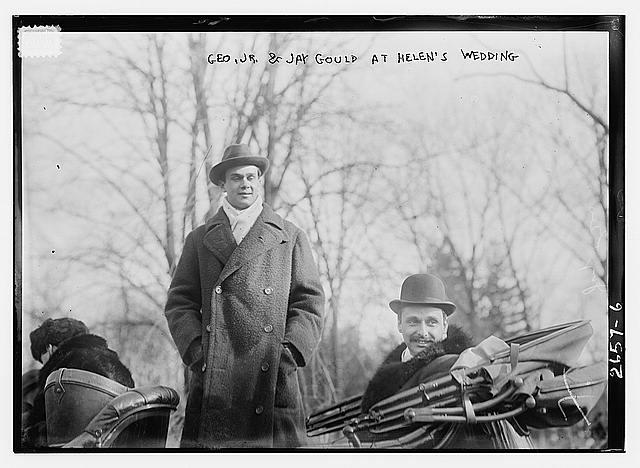 Geo. Jr. and Jay Gould at Helens wedding, January 1913