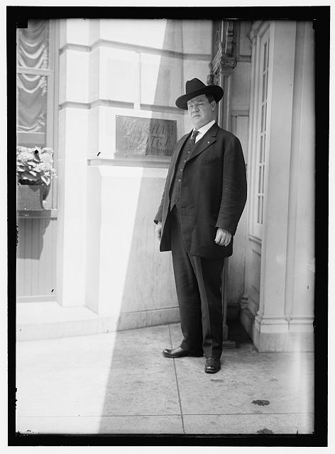 William Big Bill Haywood leaving the Shoreham Hotel, Washington, DC.  1915
