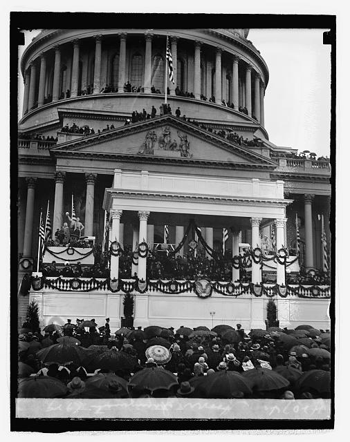 Inauguration of Herbert Hoover, 31st President of the United States (1929 - 1933), 1929.