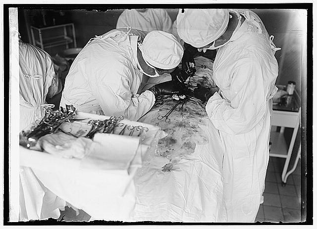 Surgery, c.1922  (Library of Congress)
