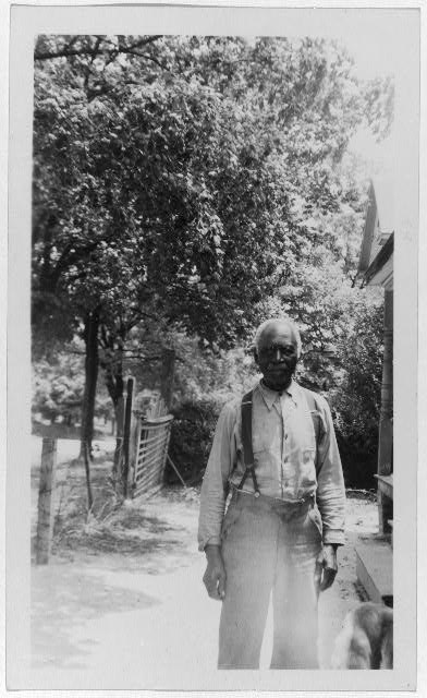 Parker Poole, between 1937 and ca. 1938.  Forms part of: Portraits of African American ex-slaves from the U.S. Works Progress Administration, Federal Writers Project slave narratives collections.