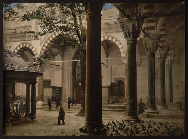 Sultan Bajazids mosque, Constantinople, Turkey, circa 1890-1900