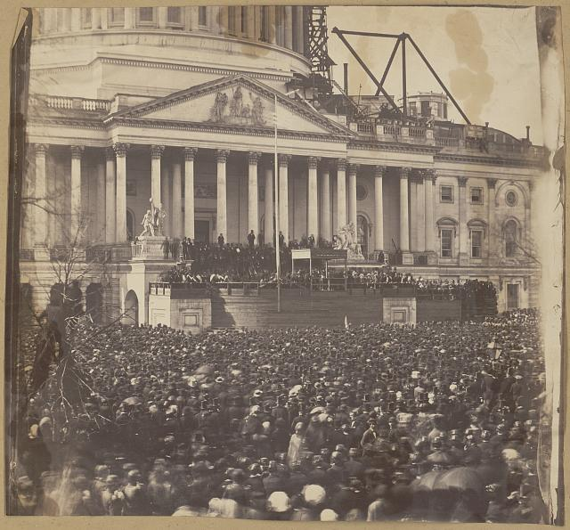 Inauguration of Mr. Lincoln (March 4, 1861) Library of Congress