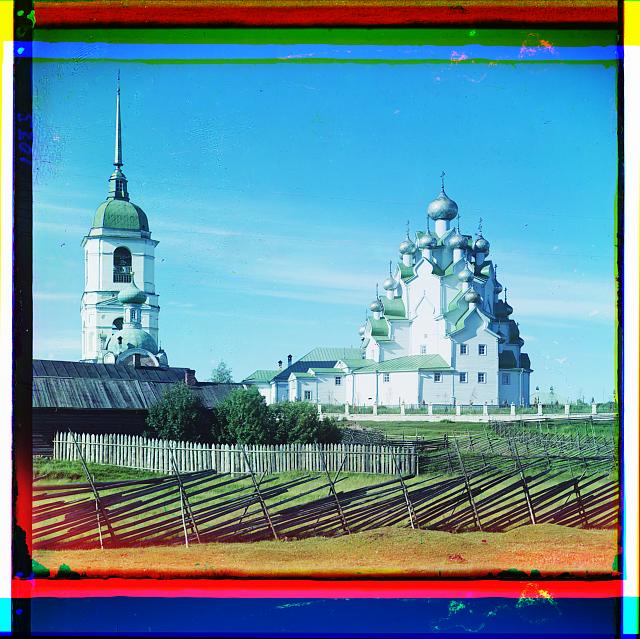 Church of Our Savior and the Protection of the Mother of God. Vytegorskii graveyard. Russian Empire.  (1909)