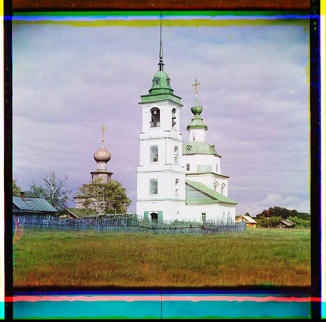 Church of the Blessed Mother of God. Belozersk, Russian Empire.  (1909)