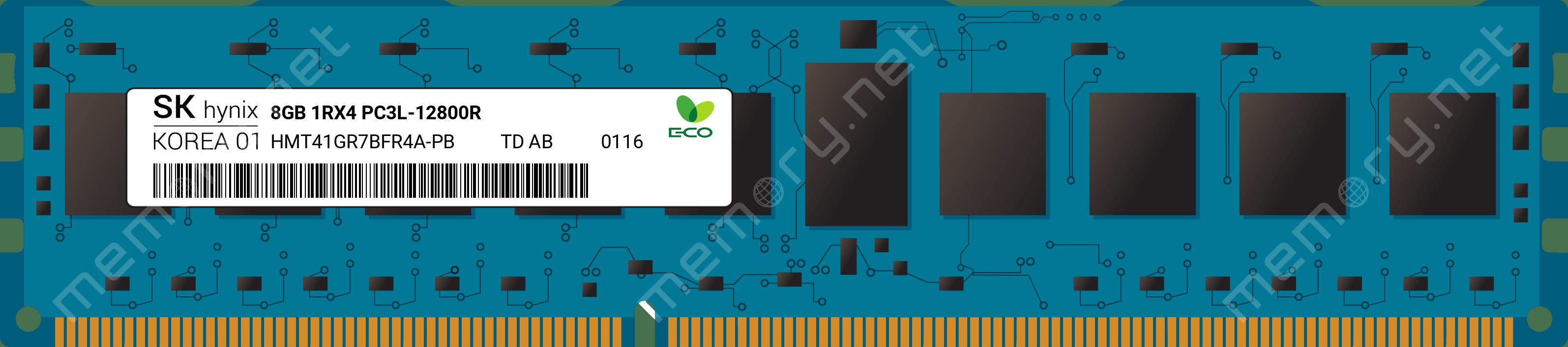 DELL HYNIX 8GB PC3L-12800R DDR3-1600 ECC REG SERVER MEMORY HMT41GR7BFR4A-PB ****