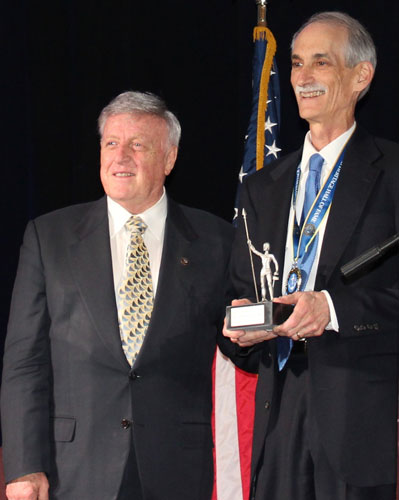 Dr. Stephen Salloway during his induction into the RI Heritage Hall of Fame, May 8, 2019.