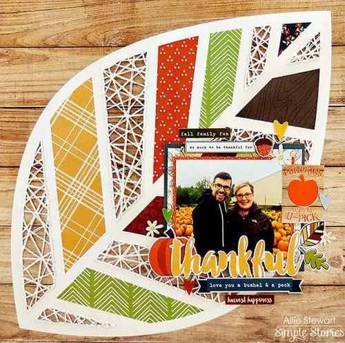 Thanksgiving Scrapbook Layout Ideas Inspiration Part 2 Memory