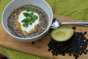 Avocado Flax Black Bean Soup