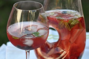 Berry Mint Rose Sangria