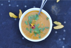 Maple Butternut Squash Soup with Cranberries
