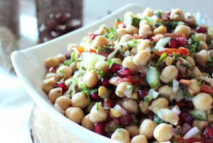 Chickpea & Pomegranate Salad with Tangy Cumin Dressing