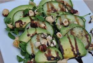 Avocado, Cucumber, Hazelnut with Paprika