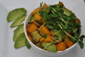 Mango, Avocado & Jalapeno Sprouts Salad