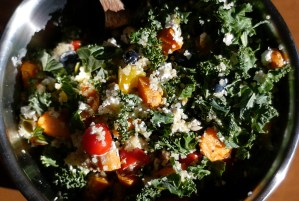 Red, White & Blue Kale Salad